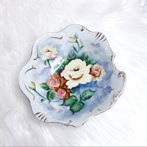 Other - Hand painted floral pattern asymmetrical bowl